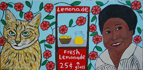 yellow cat lemonade stand florida evans